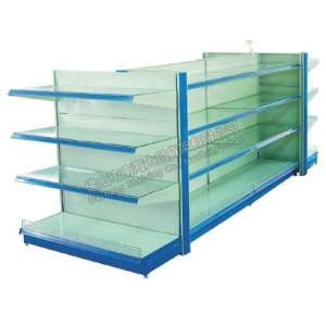 shelf with glass decking panel
